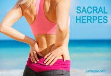 Sacral Herpes on Back, HSV-2