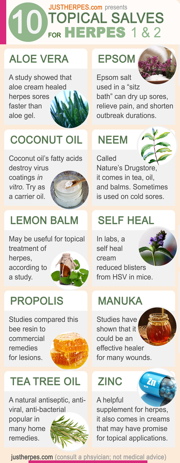 10 Herpes Topical Treatments and Salves Infographic